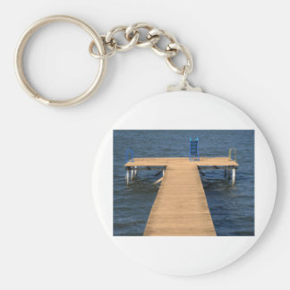 out of season basic round button key ring