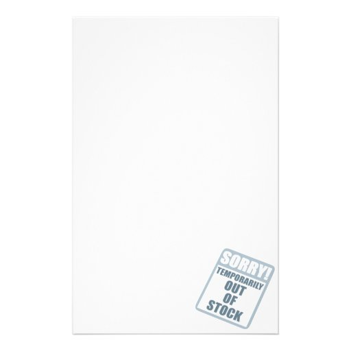 Out Of Stock Customized Stationery