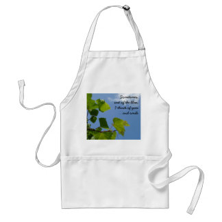 Out of the blue standard apron