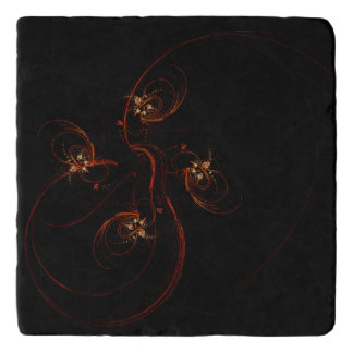 Out of the Dark Abstract Art Stone Trivet