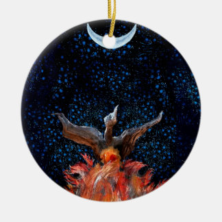 Out of the Flames: Phoenix Rising Christmas Ornament