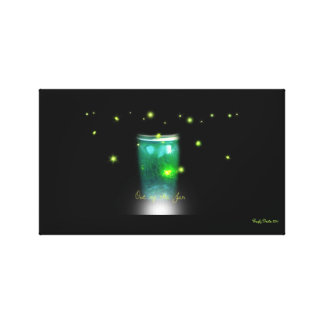 Out of the Jar Glow Bugs Canvas Prints