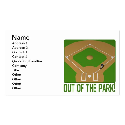 Out Of The Park Business Card Template
