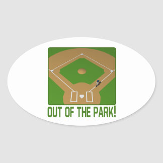 Out Of The Park Oval Sticker