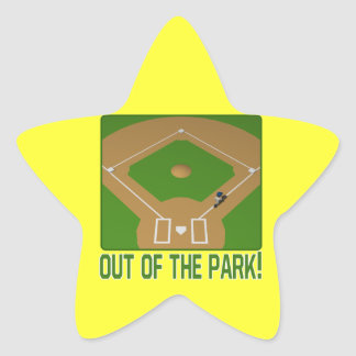 Out Of The Park Star Sticker