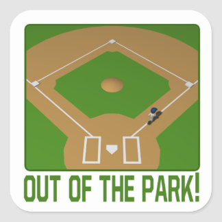 Out Of The Park Square Sticker