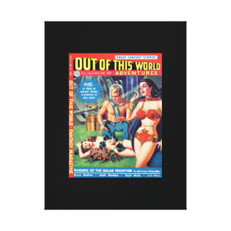 Out of this World Adventures v01 n02 (1950-12.Avon Stretched Canvas Print