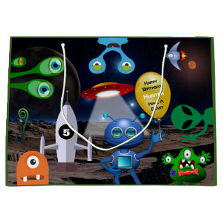 Out Of This World Personalized Birthday Large Gift Bag