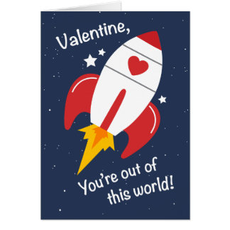 Out of This World Rocket Valentine Card