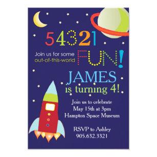 Space Birthday Invitations Announcements Zazzlecouk