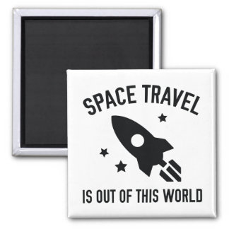 Out Of This World Square Magnet