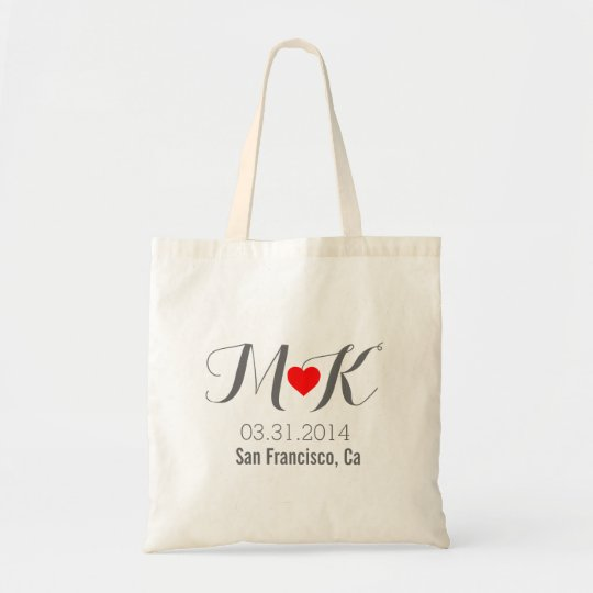 Out of town OOT wedding guests bag