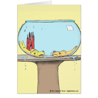 """Out of Water"" Greeting Card"