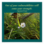 Out of your vulnerabilities...Quote-Poster Poster