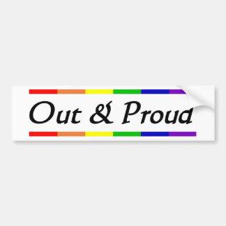 Out & Proud Car Bumper Sticker