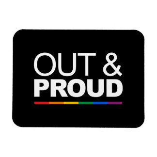 OUT & PROUD - .png Rectangle Magnets