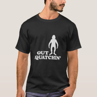 OUT SQUATCHIN with Figure - Dark T-Shirt