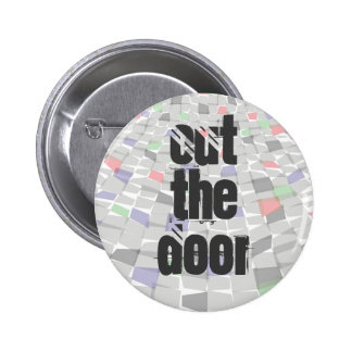 out the door pattern colour 6 cm round badge