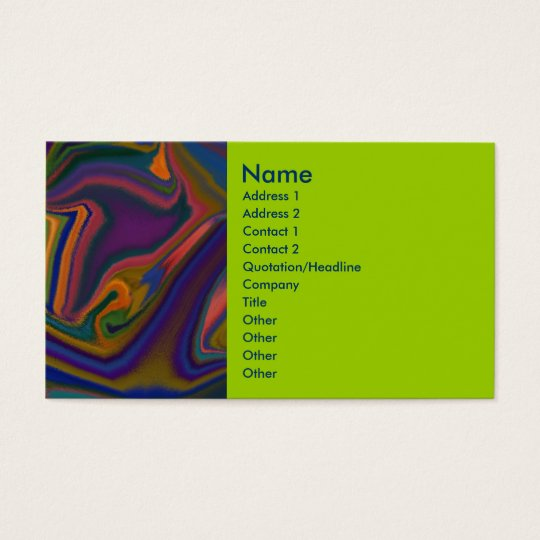 Out There business card