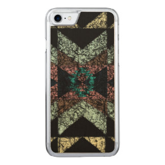 Out-worn tribal pattern. carved iPhone 8/7 case