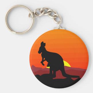 Outback Australian Kangaroo at Sunset Key Ring