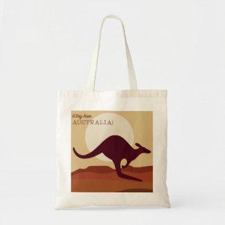 Outback kangaroo tote bag