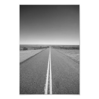Outback Road Australia, Black and White - Print