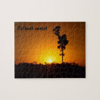 Outback sunset jigsaw puzzle