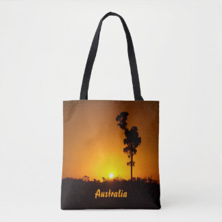 Outback sunset tote bag