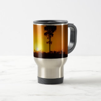Outback sunset travel mug