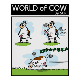 Outboard Cow Poster