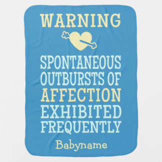 Outbursts of Affection custom baby blanket
