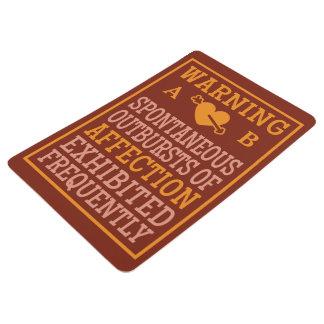 Outbursts of Affection custom monogram floor mat