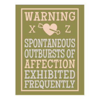 Outbursts of Affection custom postcard