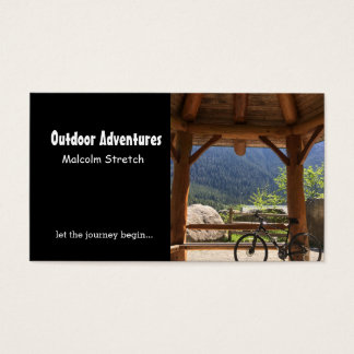 Outdoor Adventure Guide Business Card