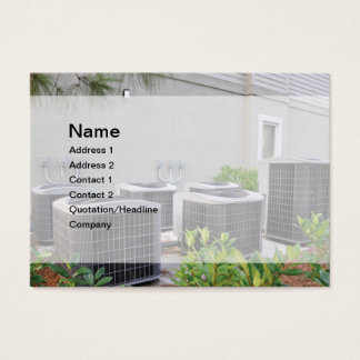 outdoor air conditioner units business card
