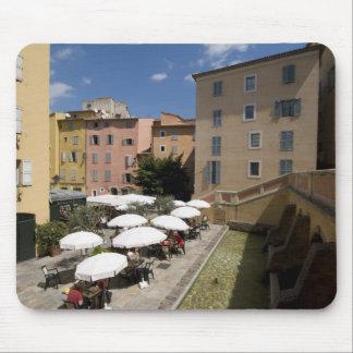 Outdoor café, Place de l'Eveche, Grasse, Mouse Mat