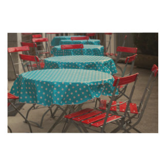 Outdoor Cafe Tables Wood Wall Art