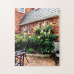 Outdoor Cafe With Hydrangea Jigsaw Puzzle