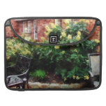 Outdoor Cafe With Hydrangea Sleeve For MacBook Pro