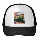 Outdoor Cafe With Hydrangea Trucker Hats