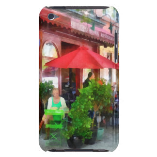 Outdoor Cafe With Red Umbrellas iPod Touch Case-Mate Case