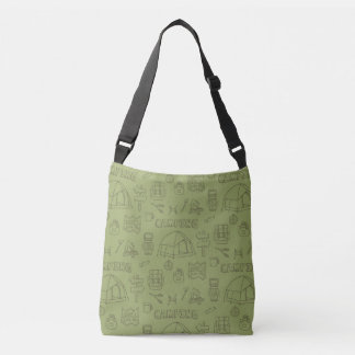 Outdoor Camping Icons Pattern Tote Bag
