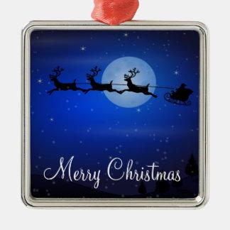 Outdoor Christmas Ornaments - Santa And Reindeer