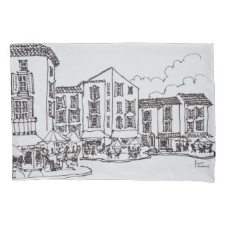 Outdoor Dining | Gordes, South of France Pillowcase