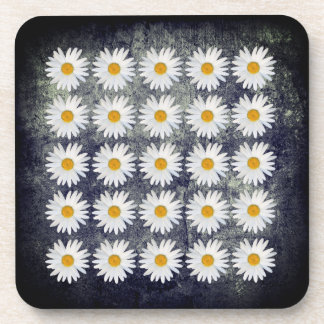 Outdoor Dining Repeated Daisy pattern Coaster
