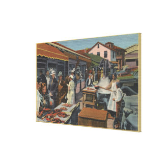 Outdoor Fish Markets on Fisherman's Wharf Gallery Wrap Canvas