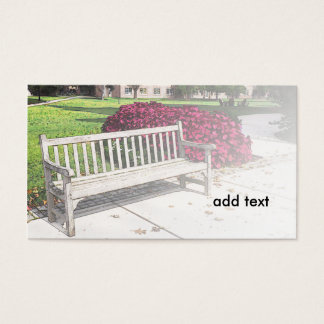 outdoor garden bench business card