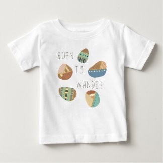 Outdoor Geo IX   Born to Wander Baby T-Shirt