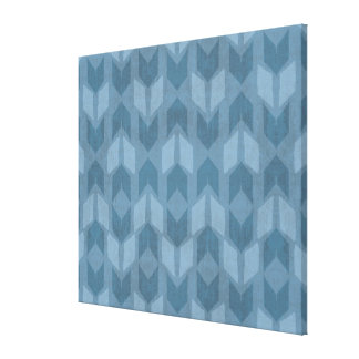 Outdoor Geo Step | Blue Arrow Pattern Canvas Print